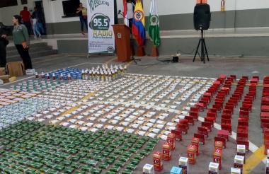 Los 150 mil medicamentos falsificados.