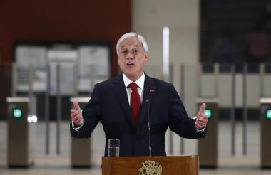 Sebastián Piñera, presidente de Chile.