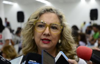 Zandra Vásquez, secretaria de la Oficina de la Mujer del Atlántico.