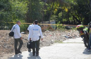 Sector donde fueron hallados sin vida los cuatro cuerpos.
