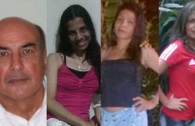 Jaime Herrán, Sandra Ricardo, Betsaida Acevedo, Griselda Acevedo, las víctimas de la masacre ocurrida en el barrio Las Terrazas.