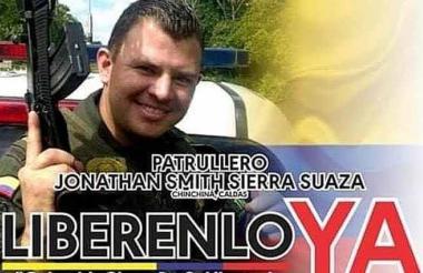 onathan Smith Sierra Suaza, policía asesinado.