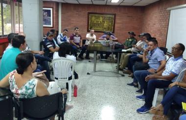 Reunión del Consejo de Gestión de Riesgo de Sucre.
