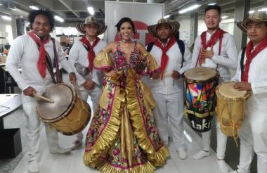 Lauren Martínez en su visita a EL HERALDO.