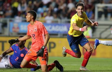 Momento en el que le marcan el gol a Colombia.