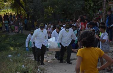El múltiple crimen ocurrió el sábado anterior en la finca El Gran Chaparral.