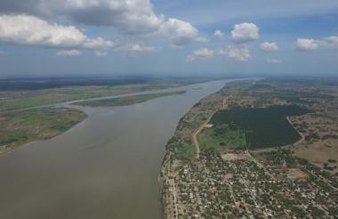 El río Magdalena.