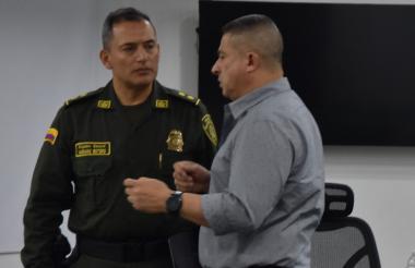 El presidente del Concejo y el comandante de la Policía Metropolitana de B/quilla.