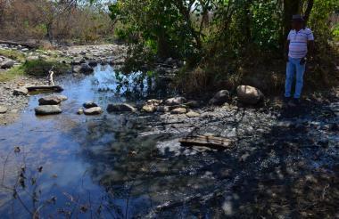 Aspecto del río Mariangola, que está siendo contaminado en la capital del Cesar.