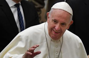 Papa Francisco, durante audiencia general semanal.