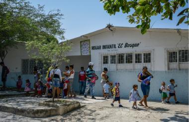 Padres e hijos han asistido al Hogar El Bosque.