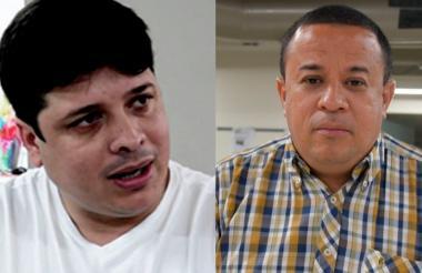 Edwin Volpe Iglesias (izq.) y su abogado Erick Del Portillo.