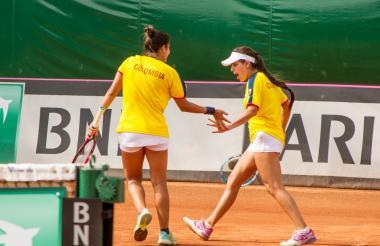 María Camila Osorio (der.) y María Paulina Pérez.