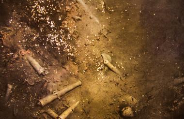 Imagen de los restos del Galeón San José en las profundidades del mar.