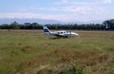 En avioneta estuvo implicado en el robo.