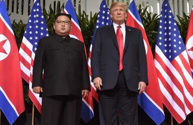 Kim Jong Un y Donal Trump.