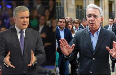 Iván Duque  Márquez, presidente de Colombia, y Alvaro Uribe, expresidente y líder del CD.