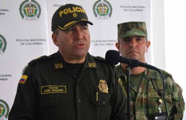 Coronel Jairo Baquero, comandante de la Policía de Córdoba.