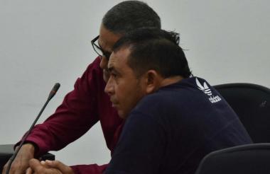 Tomás Manuel Maldonado Cera en la sala de audiencias.