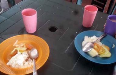 Plato de comida servido en la IE Inem Lorenzo.