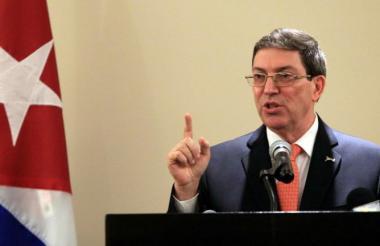 Bruno Rodríguez, ministro de Relaciones Exteriores de Cuba.