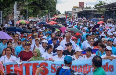 Marchas realizadas recientemente por los docentes.