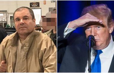 Joaquín El Chapo Guzmán y Donald Trump.