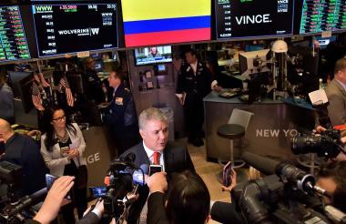 El presidente Iván Duque en Wall Street.
