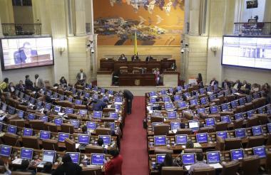 Aspecto general de una sesión de la Cámara de Representantes realizada en la pasada vigencia.