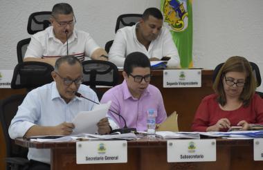 Aspecto de la sesión del Concejo Distrital de Barranquilla que se llevó a cabo este lunes.