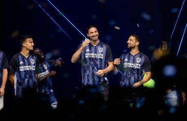 Zlatan Ibrahimovic en la presentación de Los Ángeles Galaxy para la temporada 2019.