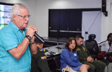 Alcalde de Soledad Joao Herrera en un evento.