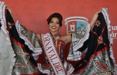La reina del Carnaval del Atlántico 2019, Carolina Suárez Gutiérrez.