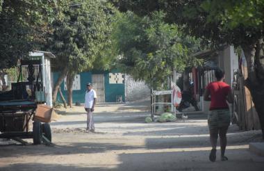 Sector del barrio Primero de mayo donde se registró el homicidio.