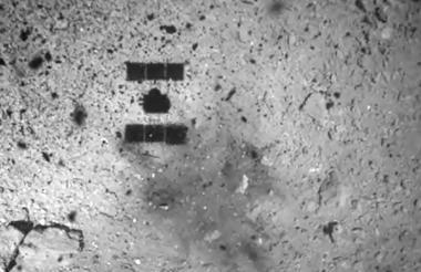 La sonda japonesa Hayabusa2 logró posarse sobre el asteroide Ryugu.