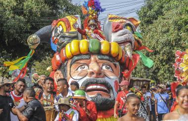 Miguel Sandoval, gran caporal de este año en el Suroccidente, durante el desfile.