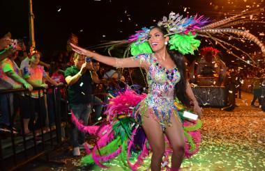 Paula Andrea Meza, reina del Carnaval de Soledad.
