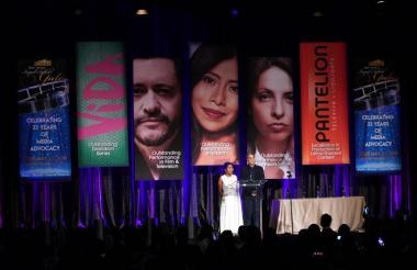 La mexicana Yalitza Aparicio, protagonista de Roma, en la reciente Gala Anual de Premios de la Coalición Nacional Hispana de Medios.
