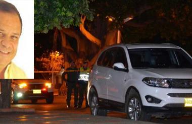 Este es el sitio del atentado contra el excongresista Álvaro Morón (en el recuadro).