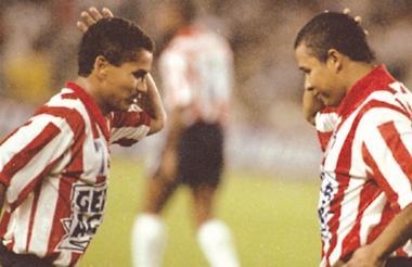 Víctor Pacheco e Iván Valenciano, cuando jugaron juntos en Junior.