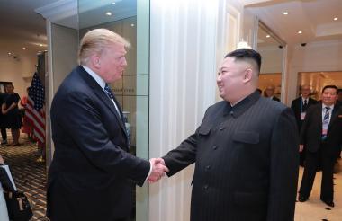 Trump y Kim.