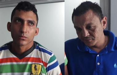 Efraín Brito Padilla e Isait Hernández Merlano, capturados.