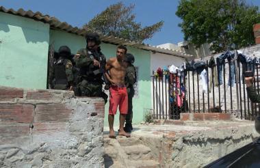Vladimir Rojas fue aprehendido a las 10:25 de la mañana del pasado miércoles en la calle 77 No. 9D-09, barrio Sourdis.