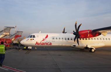 Pimer vuelo realizado por la aerolínea regional de Avianca.