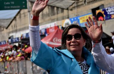 Sandra Acosta, una de las que emuló a la primera dama de la Nación en su visita a Estados Unidos.
