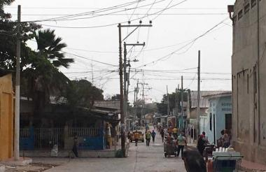 En esta calle de San Roque se registró el homicidio a puñal.