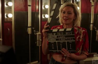 Maggie Gyllenhaal durante la grabación de The Deuce.