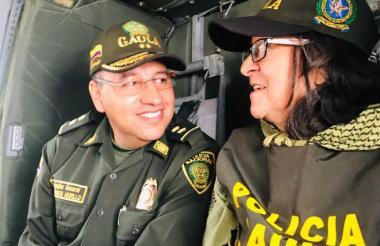 """""""Bienvenida a la libertad doña Sara Vargas B. Nuestro @GaulaPolicia la rescataron en Norte de Santander"""", trinó el coronel Carlos Buriticá."""