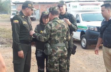 Ana Sofía Vargas minutos después de ser rescatada.