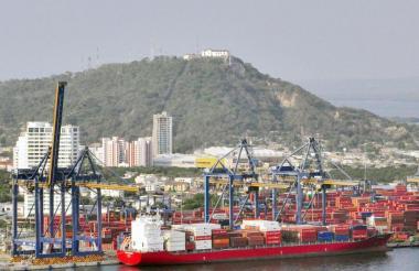Aspecto general del Puerto de Cartagena.
